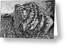 Go Griz Black And White Greeting Card