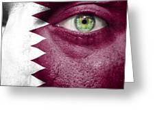 Go Qatar Greeting Card