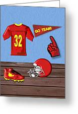 Go Team Tribute To Football Greeting Card