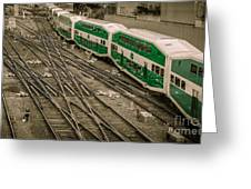 Go Train Greeting Card