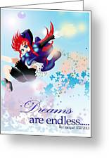 Go Up To Your Dream Greeting Card by Racquel Delos Santos