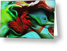 Go With The Flow Abstract Greeting Card