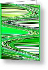 Go With The Flow Greeting Card by Carol Groenen