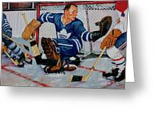 Goaltender Greeting Card