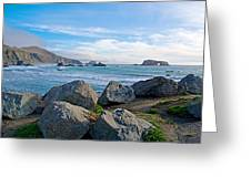 Goat Rock State Beach Near Russian River Outlet Near Jenner-ca Greeting Card