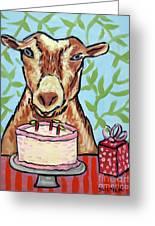 Goat's Birthday Greeting Card by Jay  Schmetz