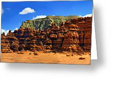Goblin Valley Pano Greeting Card