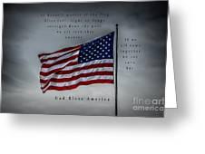 God Bless America Greeting Card