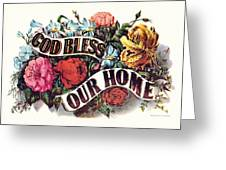God Bless Our Home Greeting Card