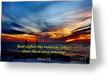 God Called It Sky Greeting Card