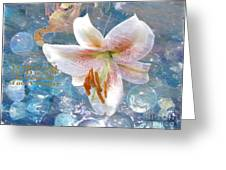 God Is Still In Control Greeting Card by Beverly Guilliams