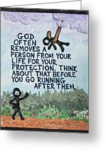 God Removes Greeting Card