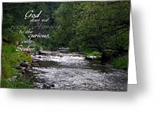 God Reveals Greeting Card