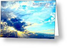 God Shine #2 Greeting Card