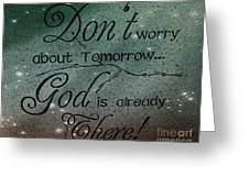 God Spiritual Art - Inspirational Message Typography Greeting Card