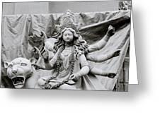 Goddess Durga Greeting Card by Shaun Higson