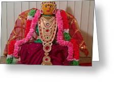 Goddess Lakshmi Idol Greeting Card