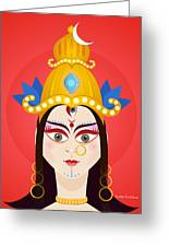 Goddess Maa Durga Greeting Card by Sachin Sachdeva