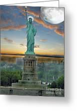 Goddess Of Freedom Greeting Card