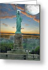 Goddess Of Freedom Greeting Card