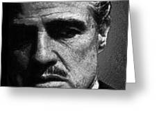 Godfather Marlon Brando Greeting Card by Tony Rubino