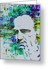 Godfather Watercolor Greeting Card