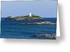 Photographs Of Cornwall Godrevy Lighthouse Greeting Card