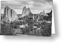 Gods Colorado Garden In Black And White    Greeting Card