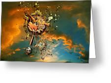 God's Dusk Greeting Card