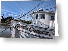 God's Grace Shrimp Boat Greeting Card