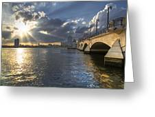 God's Light Over West Palm Beach Greeting Card