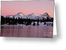 God's Light Painting At Molas Lake Greeting Card