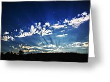 Gods Rays Greeting Card