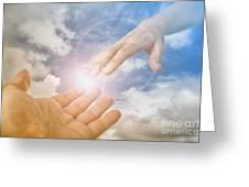 God's Saving Hand Greeting Card
