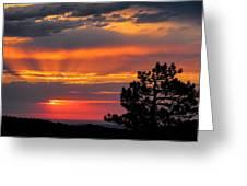 God's Spotlight Over Keystone Greeting Card