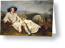 Goethe In The Roman Campagna Greeting Card