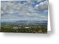Going Places Cloudy Blue Sky Panoramic Greeting Card