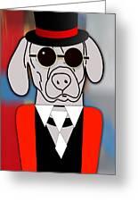 Going Somewhere Weimaraner Greeting Card