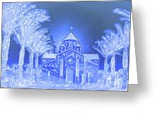 Going To Church On Christmas Greeting Card