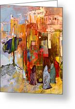 Going To The Medina In Morocco Greeting Card