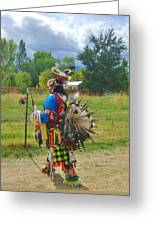 Going To The Pow Wow Greeting Card