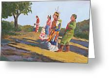 Going To The Powwow Greeting Card