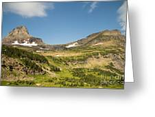 Going To The Sun Road From Highline Trail Greeting Card