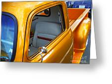 Gold 54 Chevy Truck Greeting Card