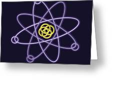 Gold And Silver Line Atomic Structure Greeting Card