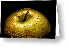 Gold Apple Greeting Card