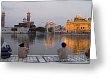 Gold At Golden Temple Greeting Card