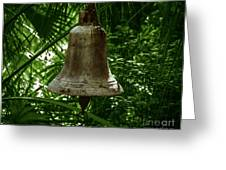 Gold Bell Greeting Card