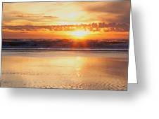 Gold Bluff Sunset Greeting Card