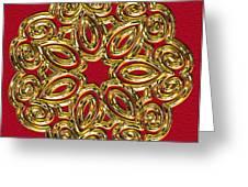 Gold Broach Greeting Card
